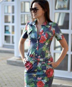 szafari virágmintás ing ruha mystic day