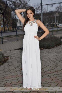 fehér köves muszlin maxi ruha merryl