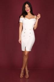 fehér ejtett vallu mini ruha la pierre