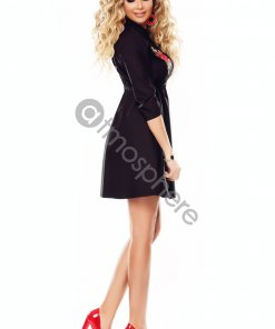 fekete hímzett viragos ing ruha atmosphere
