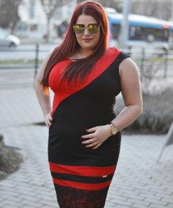 molett piros fekete ruha mysticday
