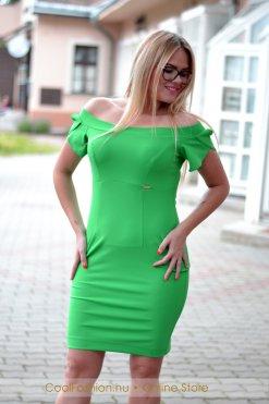 zöld gumis vallú ruha mystic day ... e9cddc133c