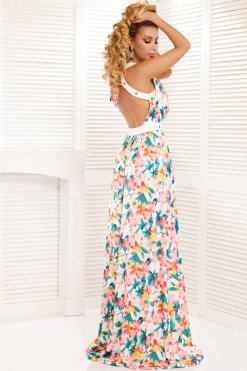 színes virágos maxi ruha atmosphere