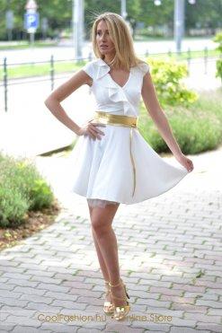 fehér fodros loknis ruha mystic day