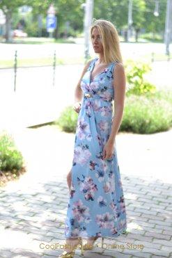 virágos átlapolt maxi ruha mystic day