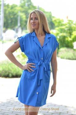 zsebes kék ruha mystic day