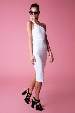 fehér midi sexy ruha ashbury
