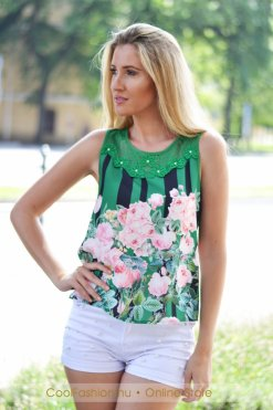 zold rozsas felso lilly chic