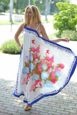 kendő mintas maxi ruha lilly chic
