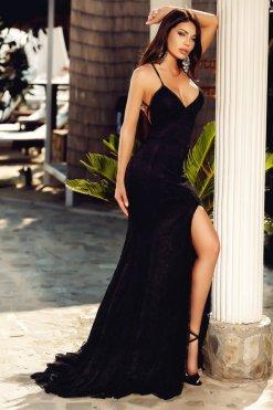 csipkes fekete sello maxi ruha atmosphere ... 5c43e215c7