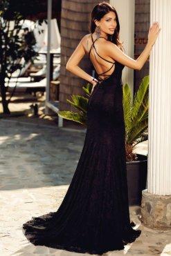 csipkes fekete sello maxi ruha atmosphere