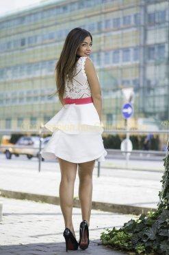 fehér 2 fodros ruha atmosphere