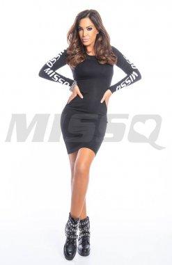 fekete pamut ruha /tunika missq