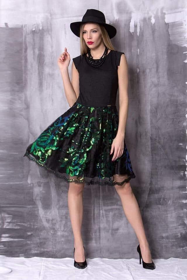 Moi köves csíkos ruha - Cool Fashion