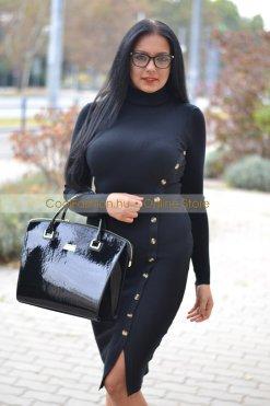 kézi lakk táska fekete és piros prestige